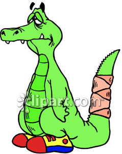 Alligator clipart sick With Picture Picture Broken A
