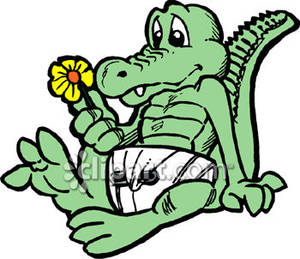 Bobook clipart alligator Diaper Clipart Royalty  Wearing