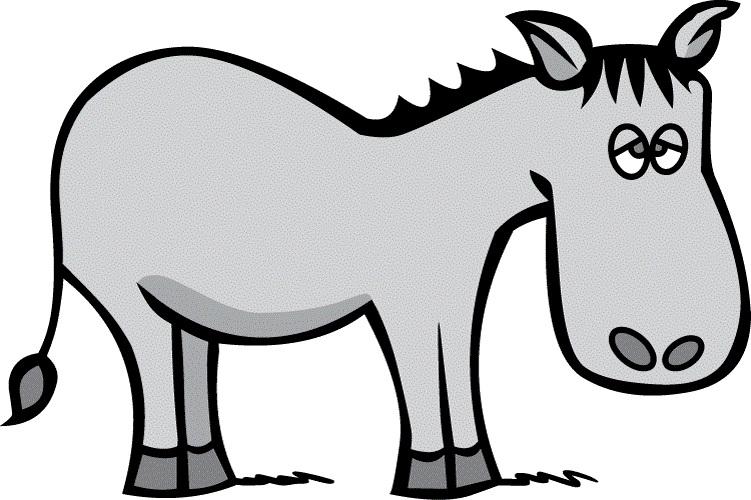 Sad clipart donkey #3