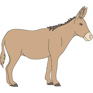 Sad clipart donkey #12