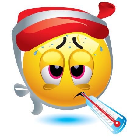 Sick clipart emotion Smileys Sick Emoticon Sick and