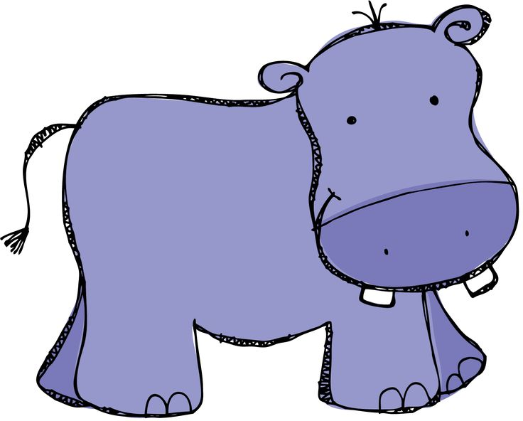 Adorable clipart baby hippo WATERMELON The 25+ drawing IN