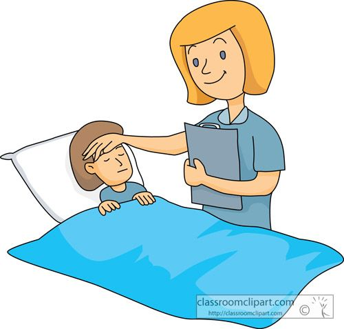 Sick clipart hospital clipart Medical Medical  : nurse_taking_care_sick_child