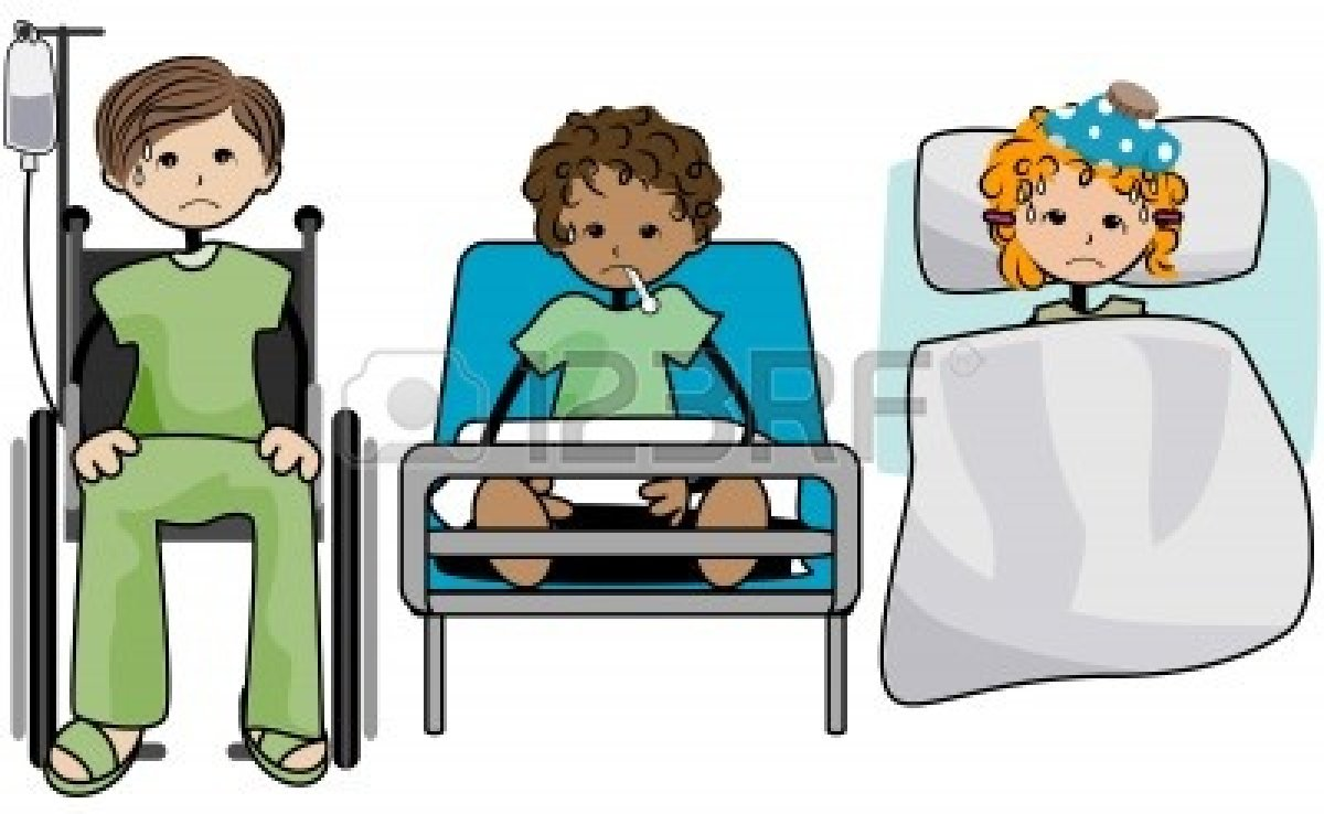 Sick clipart hospital clipart Path Clipping Clipart with Kids