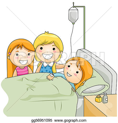 Sick clipart hospital clipart Drawing Drawing their visiting sick