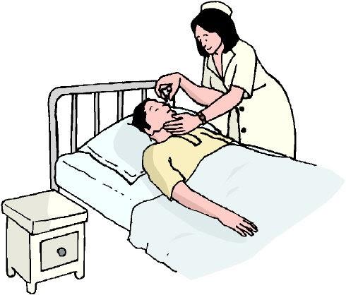 Sick clipart hospital patient Magnon's  Sick Bed