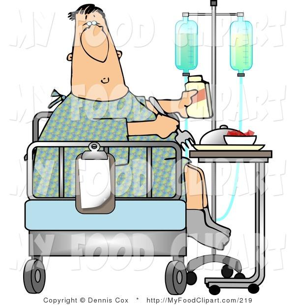 Sick clipart hospital patient Clip Food Patient Sick
