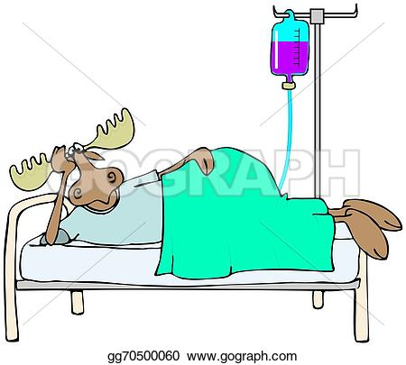 Sick clipart moose Moose in in Illustrations