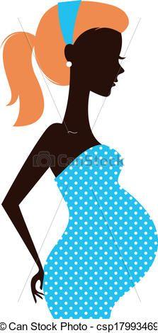 Sick clipart pregnant woman Woman Vector Clipart silhouette Woman