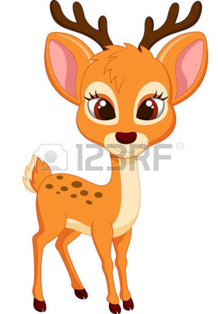 Dear clipart cute deer 144 best cartoon deer Cute