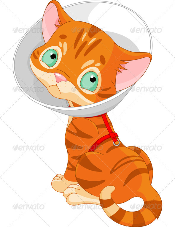 Sick clipart sick cat Cute over shoulder EPS Kitten