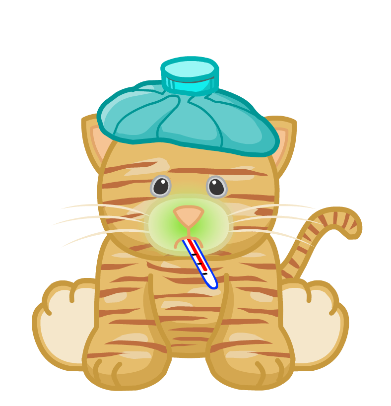 Sick clipart sick cat Height: bytes Art download Cat