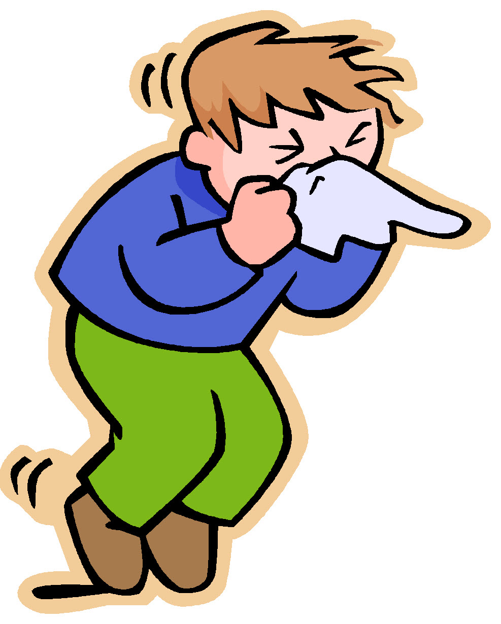 Covered clipart cough cold Art  Man Download sick