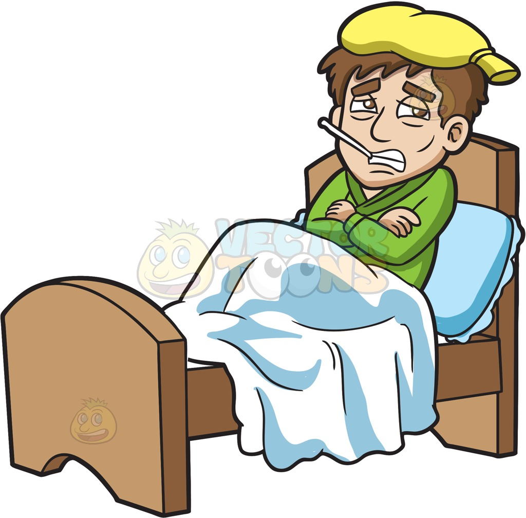 Chilling clipart sick person Resting Cartoon Sick A Guy