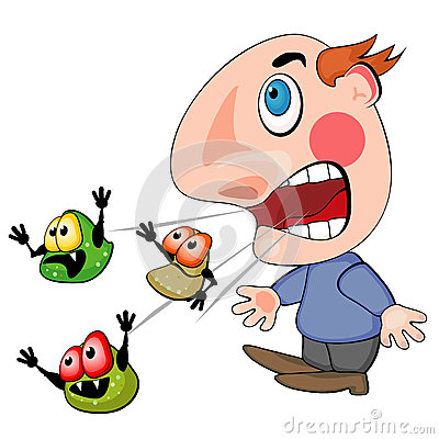 Cover clipart cough cold Clipart sick Sick person Chadholtz