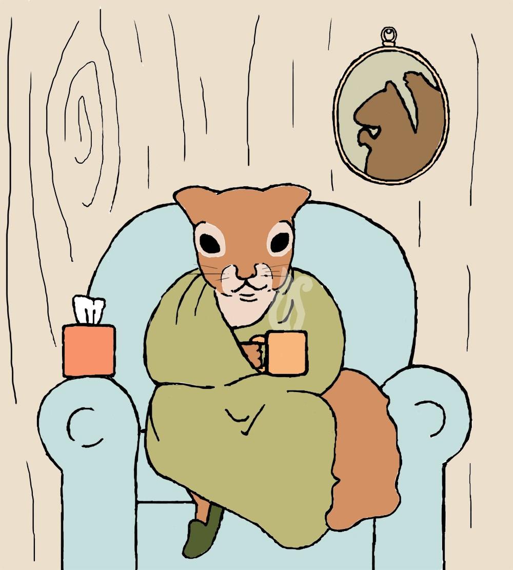 Sick clipart squirrel Sick print: day squirrel