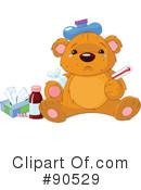 Sick clipart teddy bear Illustration Clipart by #90529 (RF)