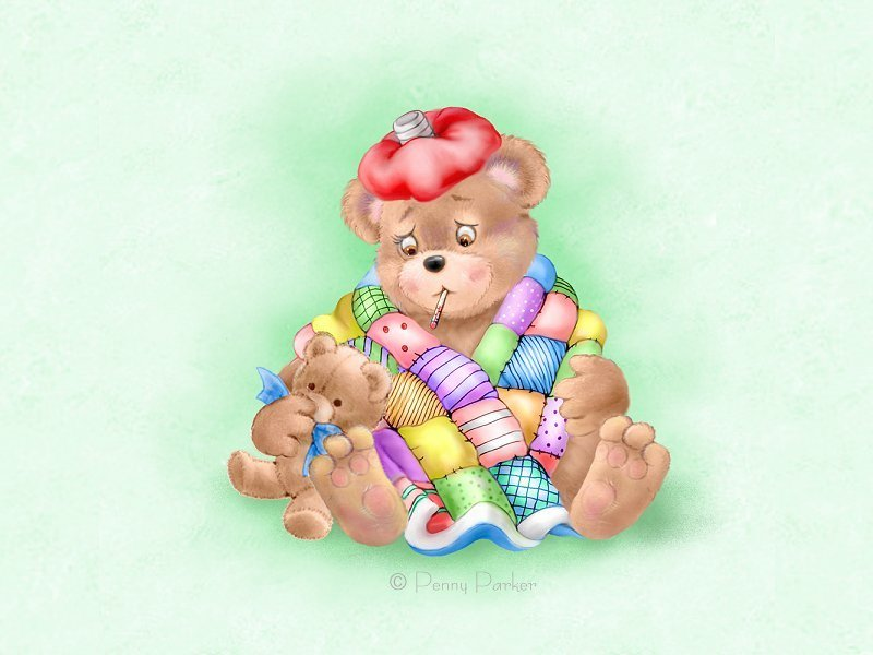 Sick clipart teddy bear By Parker by Teddy Critters❤Teddy