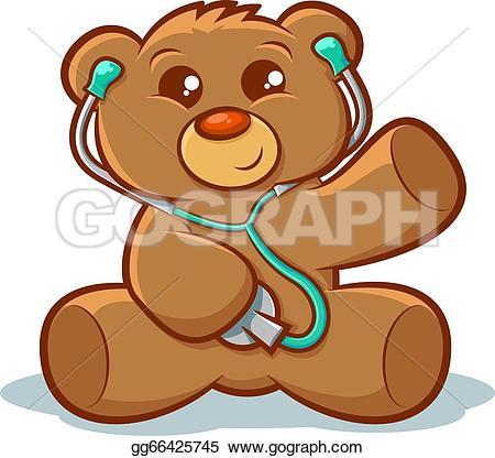 Teddy clipart sick Illustration bear teddy Docter with