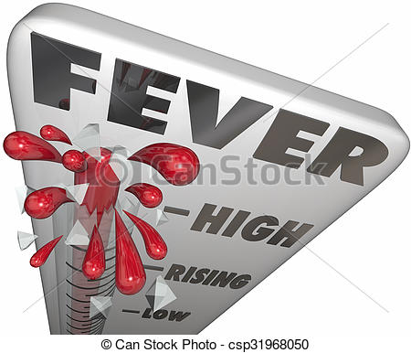 Sick clipart thermometer fever Of Illustrations Thermometer  Cold
