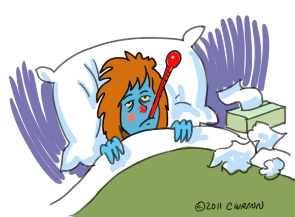 Tired clipart sick #3