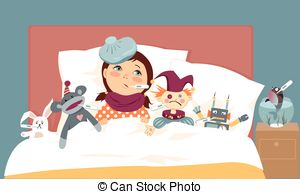 Sick clipart unwell Little Girl girl Sick with
