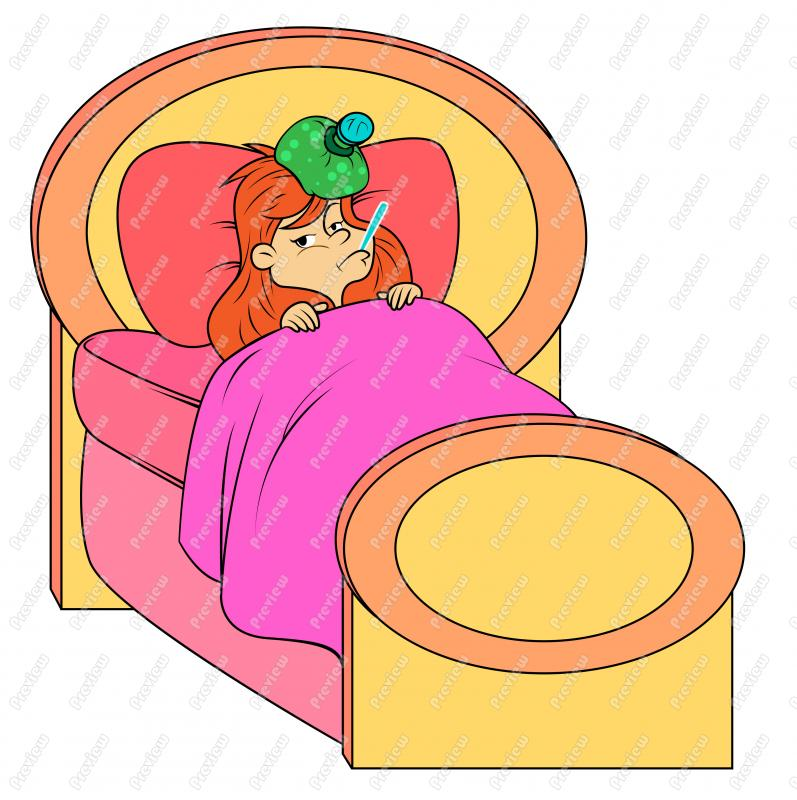 Sick clipart vector Girl Child Vector Art Cartoon