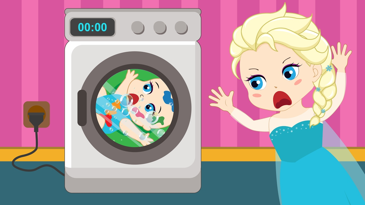 Sick clipart washing machine Washing Episodes! Elsa Spiderman into