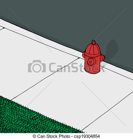 Sidewalk clipart Of Sidewalk csp19304854 Fire cartoon