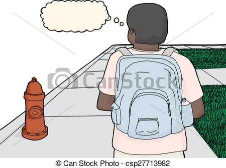 Sidewalk clipart cartoon On person of of Walking