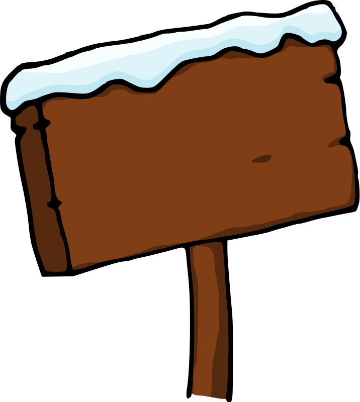 Wood clipart animated Snow Cliparts Wood Clipart Sign
