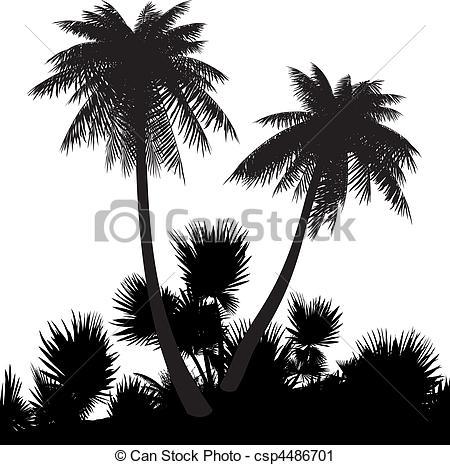 Beach clipart silhouette Palms Art csp4486701 a