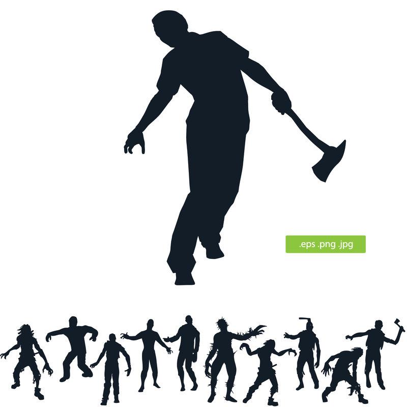 Zombie clipart silhouette DeviantArt Zombie silhouette silhouettes silhouette
