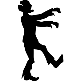 Zombie clipart silhouette 4 Silhouette Zombie Page Silhouettes