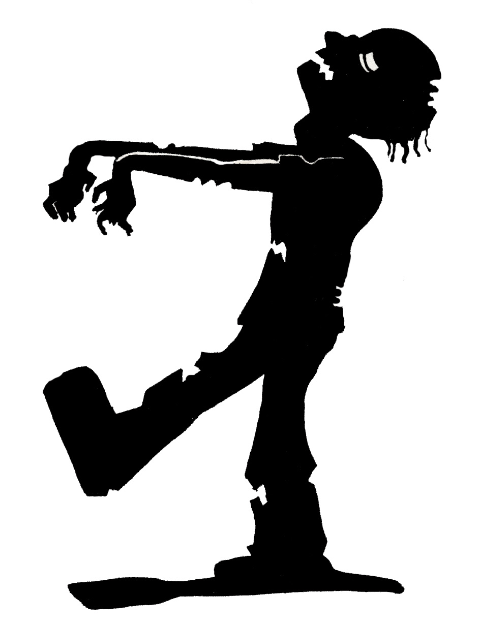 Zombie clipart silhouette Best x Silhouette and jpeg