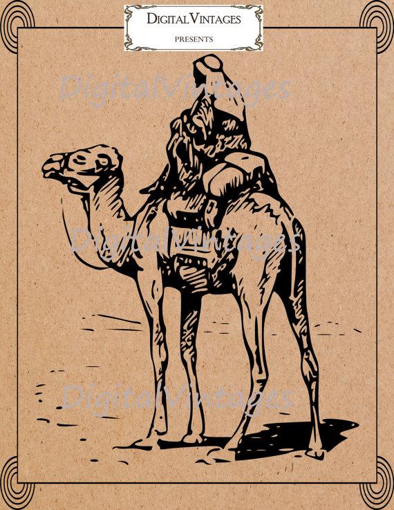 Camel clipart silk road Digital Antique svg HQ Vintage