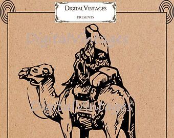 Camel clipart silk road Camel Vintage Printable Digital Camel