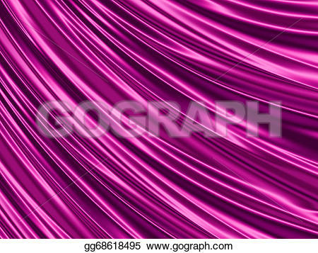 Silk clipart purple Abstract Beautiful folds Drawing many
