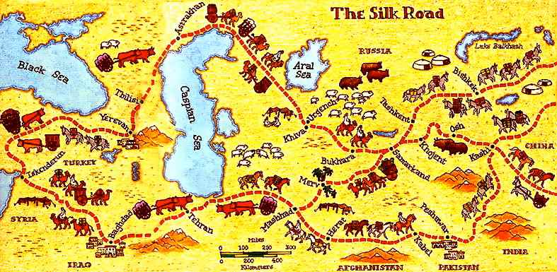 Silk clipart rode Khwarezm Genghis Ala Page Mongols
