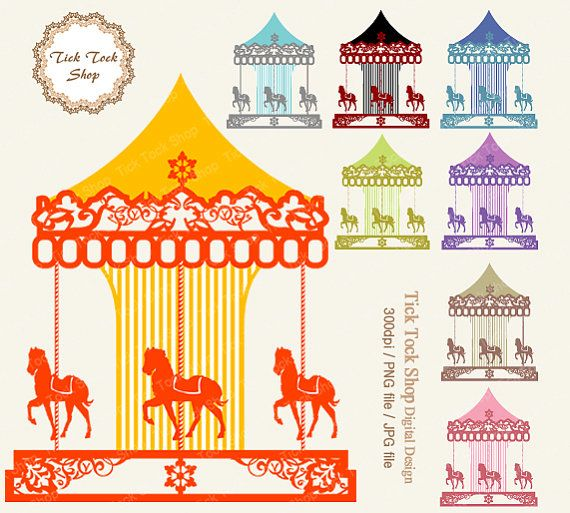 Carousel clipart victorian Best Art Clip Round on
