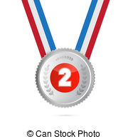 Silver clipart 2nd place medal Second Stock  Medal Art