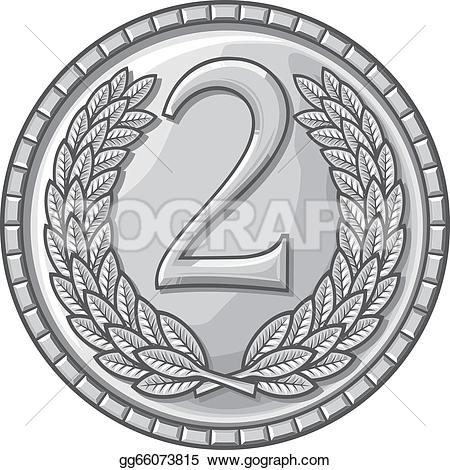 Silver clipart 2nd place medal Place Free Royalty second GoGraph