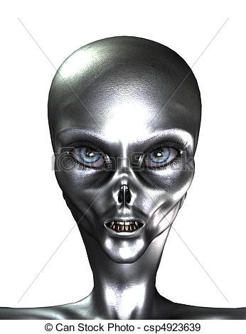 Silver clipart alien Illustration A Alien  of