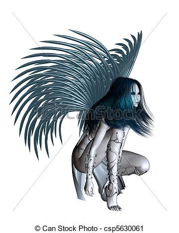 Silver clipart alien  of angel 2 wings