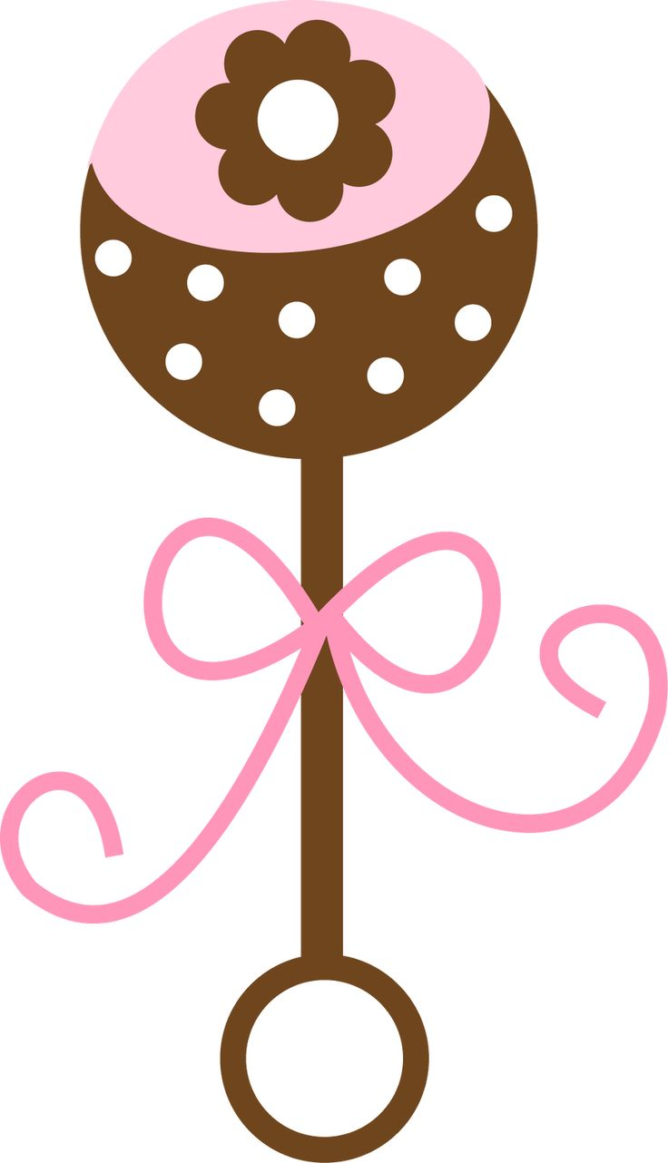 Pink clipart baby rattle Baby CLIP BABY RATTLE and