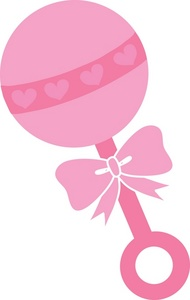 Pink clipart baby rattle Clipart Net Baby Clipart Pinterest