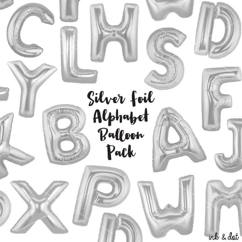 Silver clipart ballon Foil Clip This Balloon file