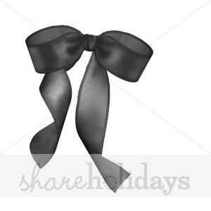 Tie clipart black bow ribbon Clipart Ribbon Black Christmas Present