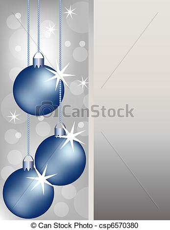 Silver clipart blue christmas A Background Silver csp6570380 Ornaments
