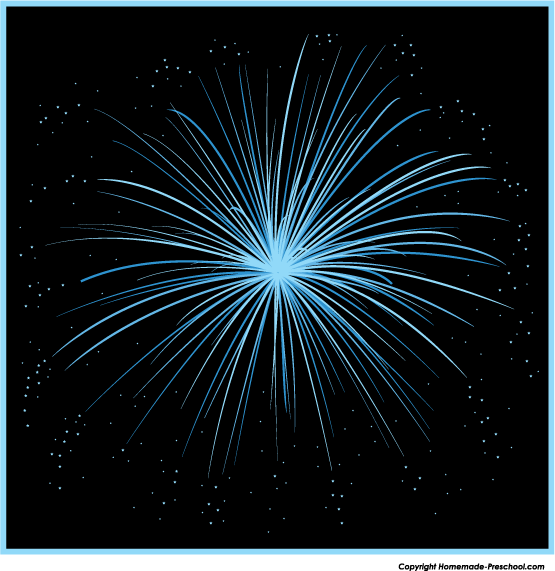 Silver clipart blue firework Clipart Free Fireworks Click to